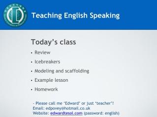 Teaching English Speaking
