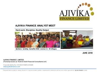 AJIVIKA FINANCE ANALYST MEET