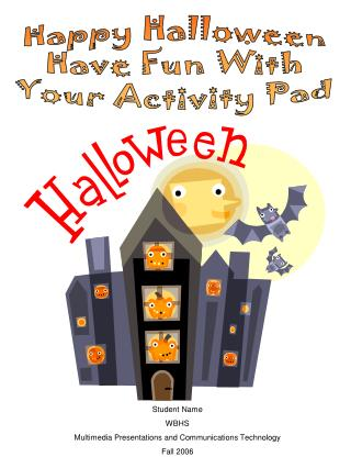 Happy Halloween Have Fun With Your Activity Pad