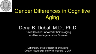 Gender Differences in Cognitive Aging