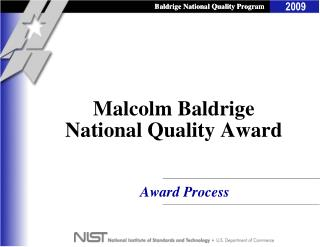 Malcolm Baldrige National Quality Award