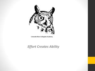Effort Creates Ability