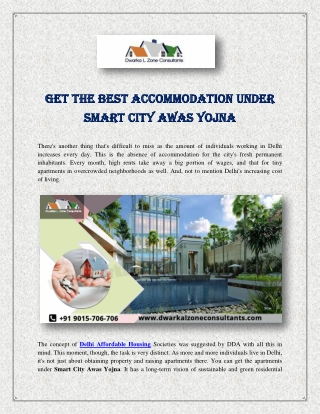 Get The Best Accommodation Under Smart City Awas Yojna