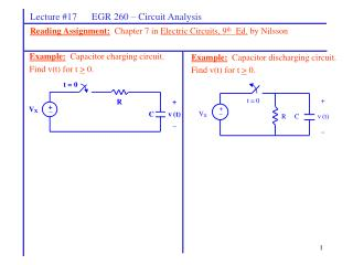 Lecture #17      EGR 260 – Circuit Analysis