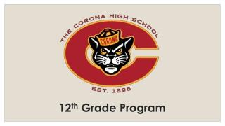 12 th Grade Program