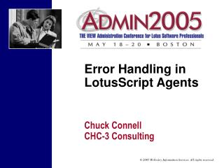 Error Handling in LotusScript Agents