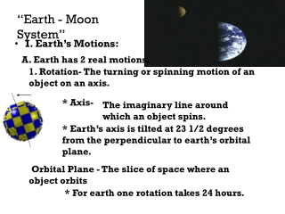 """""""Earth - Moon System"""""""