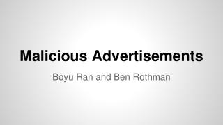 Malicious Advertisements
