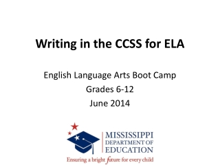 Writing in the CCSS for ELA