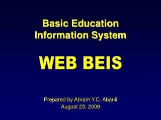 Basic Education  Information System