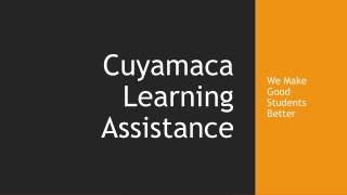 Cuyamaca Learning Assistance