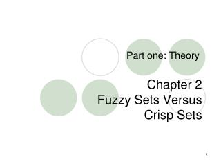 Chapter 2 Fuzzy Sets Versus  Crisp Sets