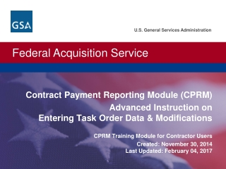 Contract Payment Reporting Module (CPRM)