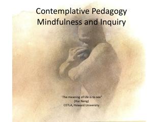 Contemplative Pedagogy Mindfulness and Inquiry