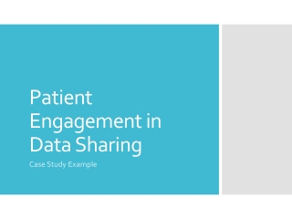 Patient Engagement in Data Sharing