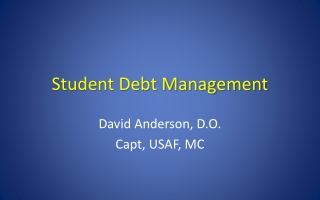 Student Debt Management