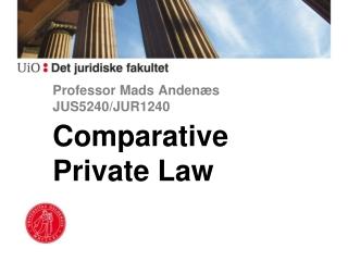 Professor Mads Andenæs JUS5240/JUR1240