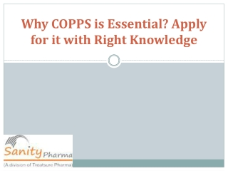 What is Copps? and get the right knowledge about that