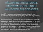 Hållbarhet Investerare Ompröva BP Holdings i Wake över