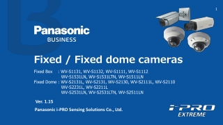 Fixed / Fixed dome cameras