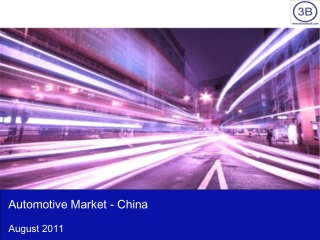 Automotive Market in China 2011