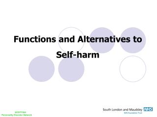 Functions and Alternatives to Self-harm
