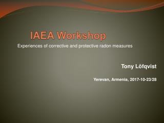 IAEA Workshop