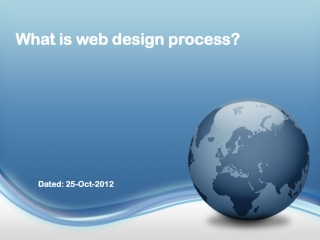 What is web design process