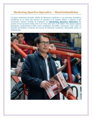 Marketing Sportivo Operativo – Mauriziolaudicino
