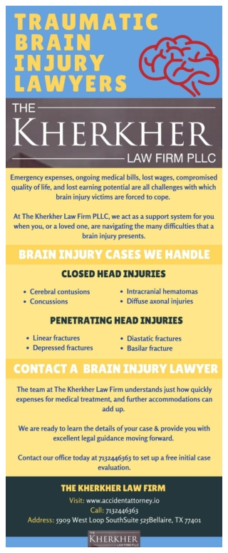 Contact Brain Injury Lawyers at The Kherkher Law Firm
