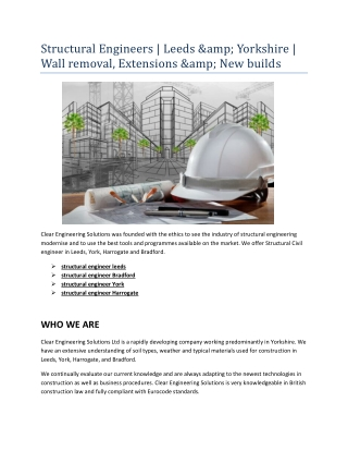 structural engineer York