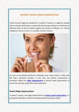 Necessity Dental Ridge Augmentation