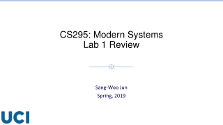 CS295: Modern Systems Lab 1 Review