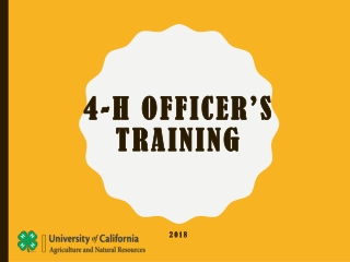 4-h OFFICER'S Training