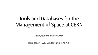 Tools and Databases for the Management of Space at CERN