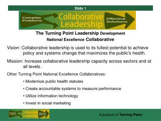 The Turning Point Leadership  Development  National Excellence Collaborative