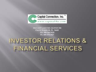Investor RELATIONS & financial services