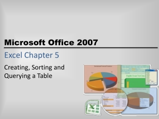 Excel Chapter 5