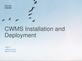 CWMS Installation and Deployment