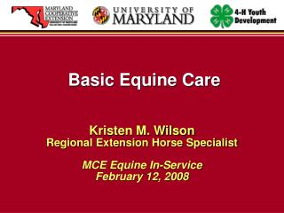 Basic Equine Care
