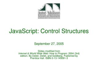 JavaScript: Control Structures