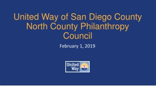 United Way of San Diego County North County Philanthropy Council