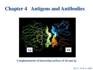 Chapter 4   Antigens and Antibodies