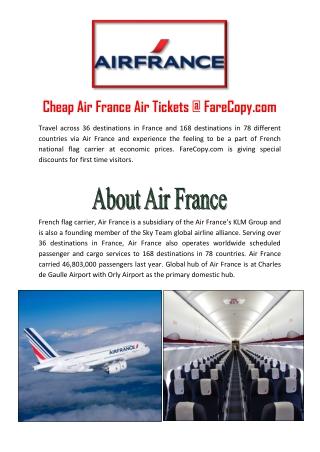 Air France - Air France Flights - Cheap Flights to France   Farecopy.com