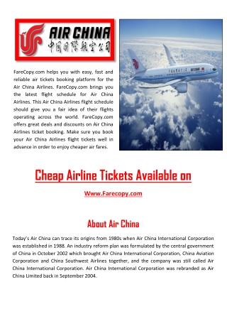 Air China - Air China Flights - Flights to China   Farecopy.com