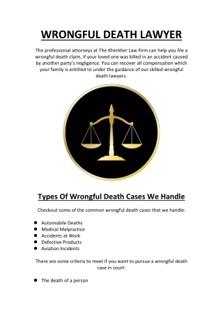 Wrongful Death Attorneys Texas At The Kherkher Law Firm
