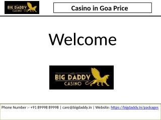 Casino in Goa Price | Goa Casino Entry Fee