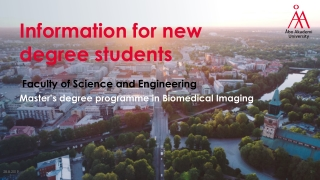 Information for new degree students
