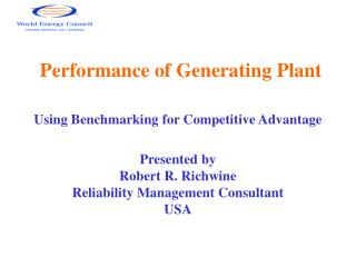 Performance of Generating Plant