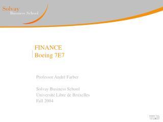 FINANCE Boeing 7E7
